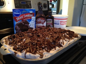 Chocolate Chocolate Poke Cake 1